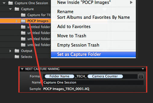 With this preset the name of the next capture will automatically match the name of the folder that is set as the Capture Folder.